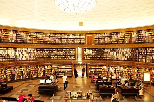 ストックホルム市立図書館の写真です
