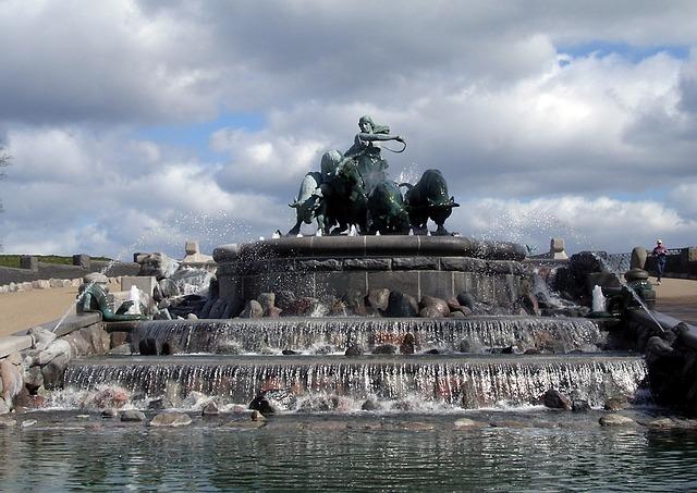 ゲフィオンの噴水